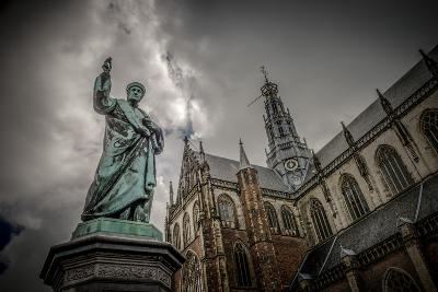 The Netherlands, Haarlem, City Centre, Market, Church, St. Bavo-Ingo Boelter-Photographic Print