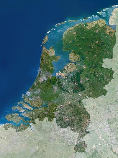 The Netherlands, Satellite Image-PLANETOBSERVER-Photographic Print