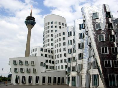 The Neuer Zollhof Building by Frank Gehry at the Medienhafen, Dusseldorf, North Rhine Westphalia-Yadid Levy-Photographic Print