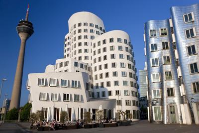 The Neuer Zollhof Building, Media Harbor, Dusseldorf, Germany-Peter Adams-Photographic Print
