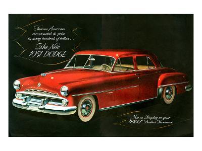 The New 1951 Dodge--Art Print