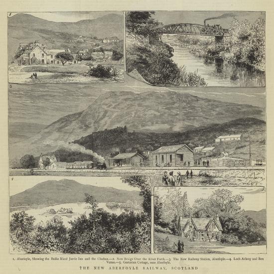 The New Aberfoyle Railway, Scotland- Warry-Giclee Print