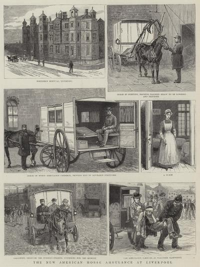 The New American Horse Ambulance at Liverpool--Giclee Print