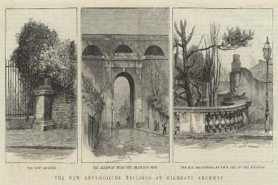 The New Anti-Suicide Railings at Highgate Archway--Giclee Print