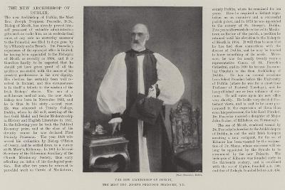 The New Archbishop of Dublin, the Most Reverend Joseph Ferguson Peacocke, Dd--Giclee Print