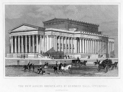 The New Assize Courts, and St George's Hall, Liverpool, Lancashire, 19th Century-Thomas Tallis-Giclee Print