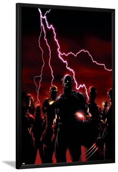 The New Avengers No.1 Cover: Captain America-David Finch-Lamina Framed Poster