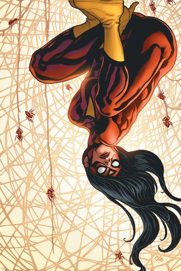 The New Avengers No.15 Cover: Spider Woman-Frank Cho-Art Print