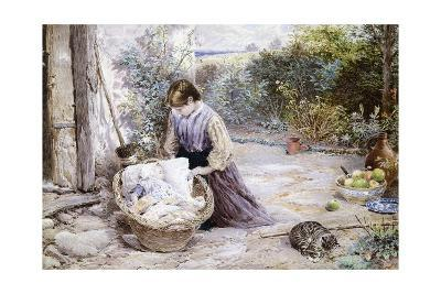 The New Baby-Myles Birket Foster-Giclee Print