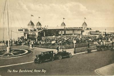 The New Bandstand, Herne Bay, Kent--Giclee Print