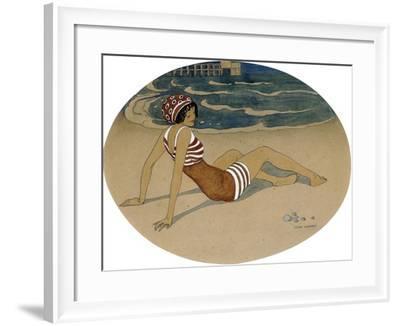 The New Bathing Suit-Gerda Wegener-Framed Giclee Print