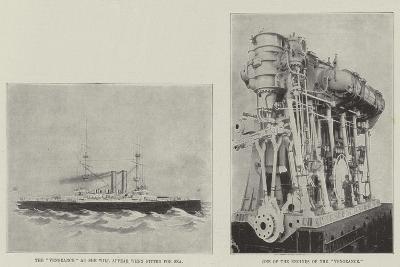The New Battle-Ship Vengeance--Giclee Print