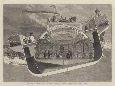 The New Bessemer Saloon Steamer, Transverse Section, Taken Through the Saloon--Giclee Print
