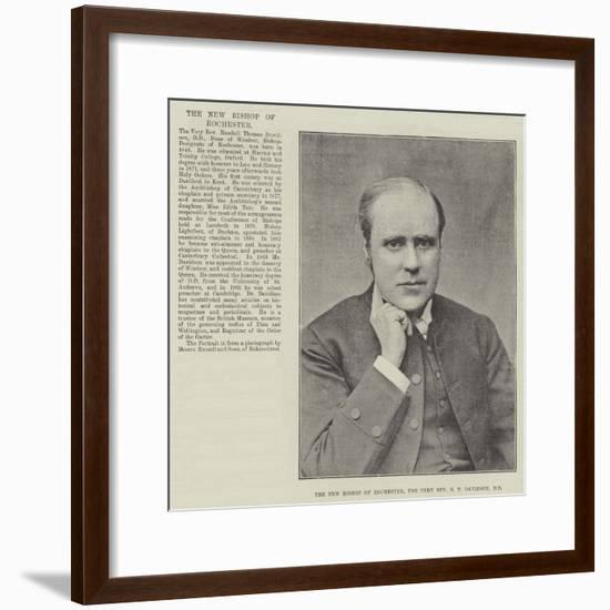 The New Bishop of Rochester, the Very Reverend RT Davidson--Framed Giclee Print