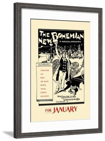 The New Bohemian, a Modern Monthly, for January--Framed Art Print