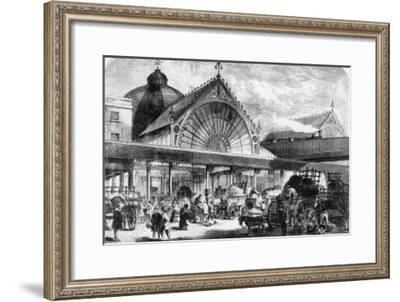 The New Borough Market is Full of People Buying Their Vegetables--Framed Giclee Print