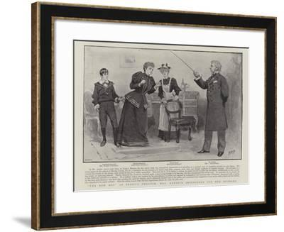 The New Boy at Terry's Theatre, Mrs Rennick Intercedes for Her Husband-Henry Marriott Paget-Framed Giclee Print