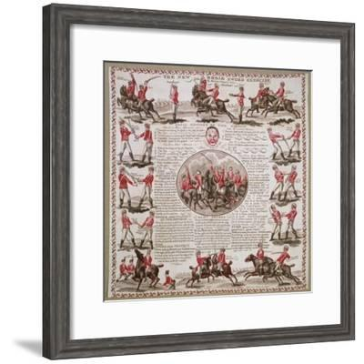 The New Broad Sword Exercise--Framed Giclee Print