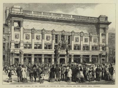 The New Building of the Institute of Painters in Water Colours, and the Prince's Hall, Piccadilly--Giclee Print
