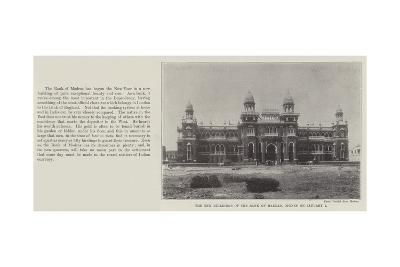 The New Buildings of the Bank of Madras, Opened on 1 January--Giclee Print