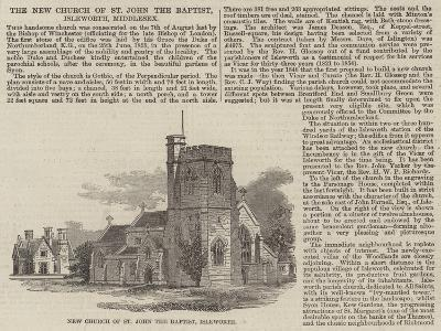 The New Church of St John the Baptist, Isleworth, Middlesex--Giclee Print