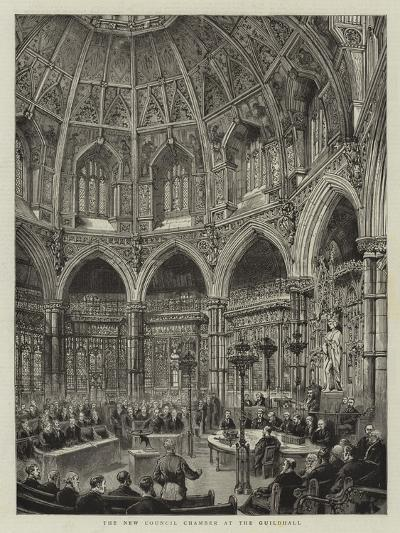 The New Council Chamber at the Guildhall--Giclee Print