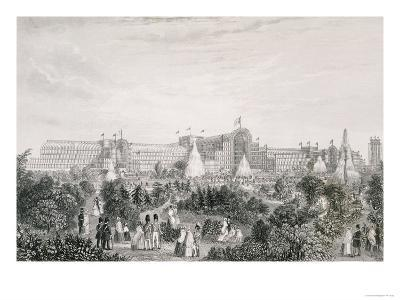 The New Crystal Palace at Sydenham, Engraved by Lacey--Giclee Print