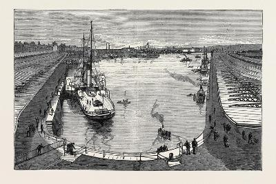 The New Dock from the Hotel Holyhead 1880--Giclee Print