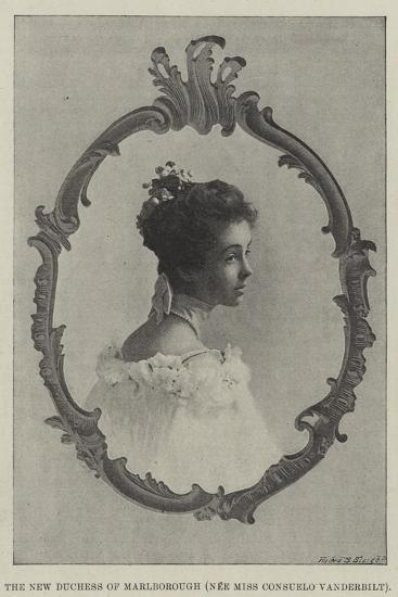 The New Duchess of Marlborough--Giclee Print