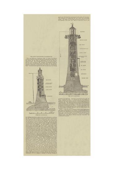 The New Eddystone Lighthouse--Giclee Print