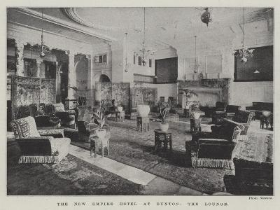 The New Empire Hotel at Buxton, the Lounge--Giclee Print
