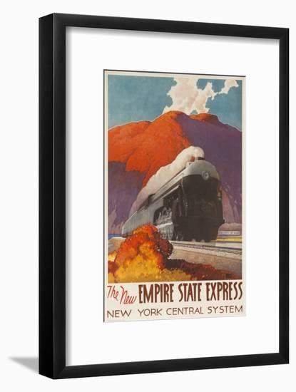 The New Empire State Express, New York Central System Rail Poster-null-Framed Giclee Print
