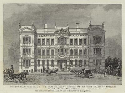 The New Examination Hall of the Royal College of Surgeons and the Royal College of Physicians on th--Giclee Print