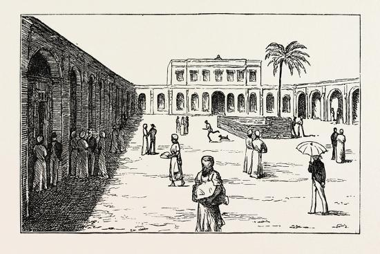 The New Exchange Minet El Basel, Arab Merchants Selling their Cotton Crops, Egypt, 1873--Giclee Print