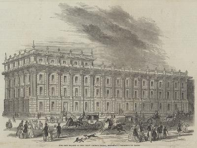 The New Facade of the Privy Council Office, Whitehall, Designed by Barry--Giclee Print