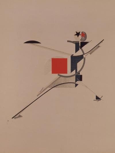 The New. Figurine for the Opera Victory over the Sun by A. Kruchenykh, 1920-1921-El Lissitzky-Giclee Print