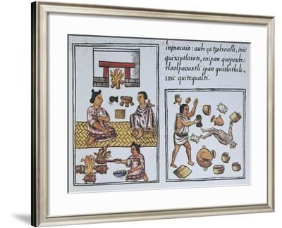 The New Fire, Domestic Pagan Ritual with the Devil--Framed Giclee Print