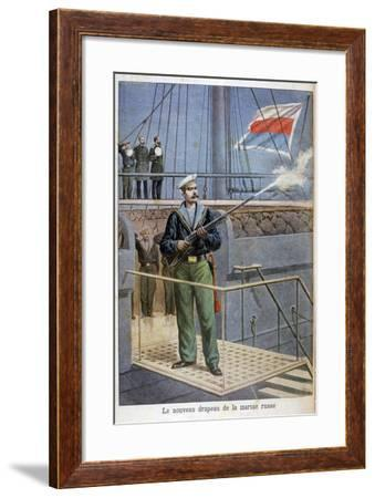 The New Flag of the Russian Navy, 1898-Henri Meyer-Framed Giclee Print