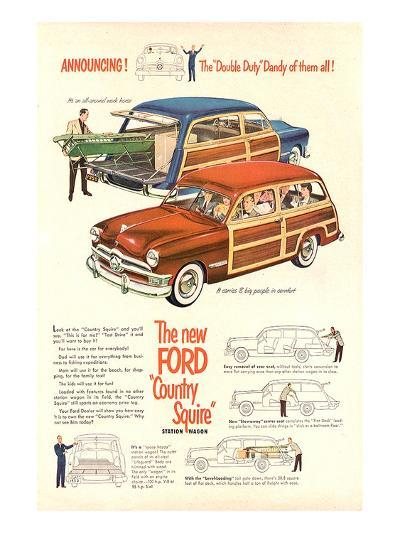 The New Ford Country Squire--Art Print