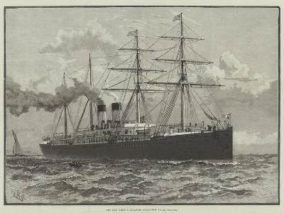 The New French Atlantic Steam-Ship La Bourgogne--Giclee Print