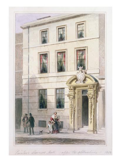 The New Front of Painter Stainers Hall, 1850-Thomas Hosmer Shepherd-Giclee Print