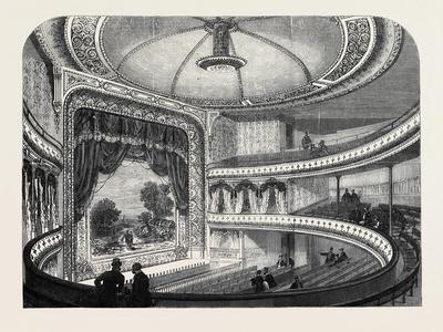 The New Globe Theatre Strand London Uk 1869 Giclee Print by | Art com