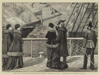 The New Governor-General of Canada, on Board the Sarmatian, Nearing Halifax-Joseph Nash-Giclee Print