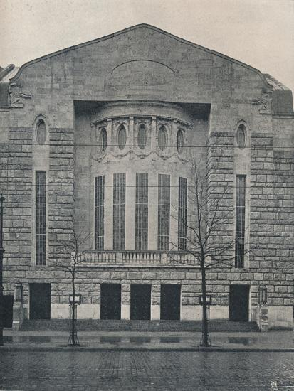 'The New Hebbel Theatre, Berlin', c1908-Unknown-Photographic Print