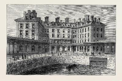 The New Hotel and Railway Terminus Holyhead 1880--Giclee Print