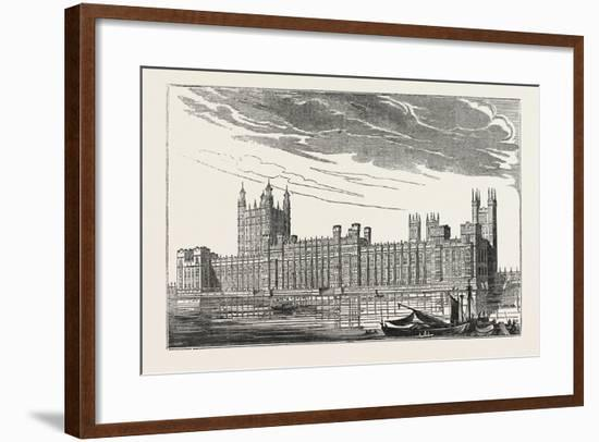 The New Houses of Parliament, Westminster, London, UK--Framed Giclee Print