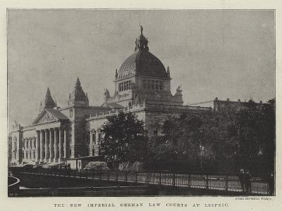 The New Imperial German Law Courts at Leipsic--Giclee Print