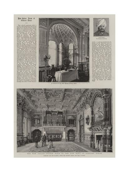 The New Indian Durbar Room in the New Wing of Osborne House--Giclee Print