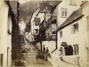 The New Inn and Street, Clovelly, Devon, Late 19th or Early 20th Century