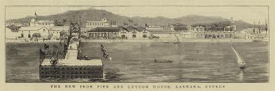 The New Iron Pier and Custom House, Larnaka, Cyprus--Giclee Print